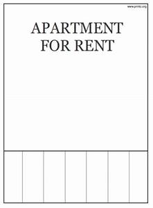 room for rent flyer With apartment rental flyer template