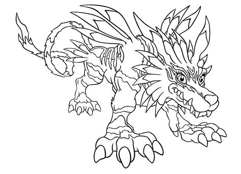 Digimon Color Page Coloring Pages For Kids Cartoon