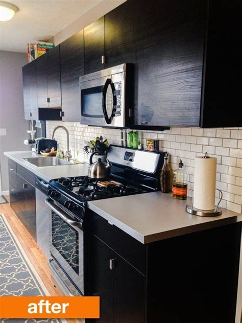 apartment galley kitchen ideas before after a narrow galley kitchen gets an