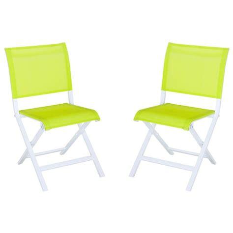 chaises pliantes but lot 2 chaises pliantes montezalo vert achat vente