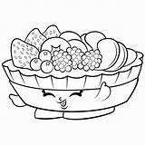 Coloring Salad Drawing Vegetable Fruit sketch template