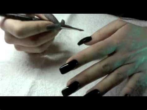 pose gel uv et vernis noir avec nail mate brillant
