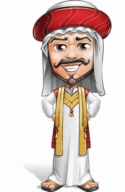 Arab Cartoon Character Vector Sublime Saami Traditional