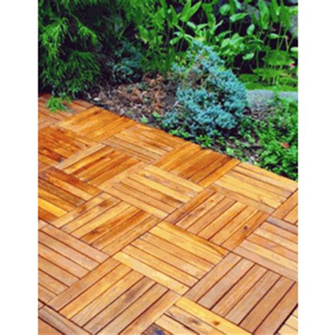 acacia hardwood snap together wood deck tile