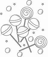 Coloring Lollipops Printable Clipart Lollipop Candy Clip Sheets Dreamstime Useful Vectors Illustration Illustrations Vector sketch template