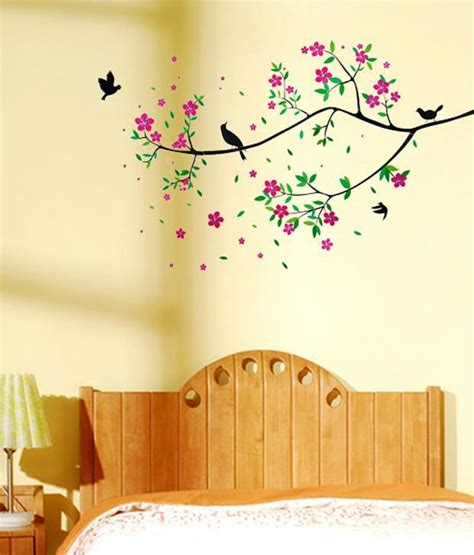 wow interiors  decors floral tree wall sticker