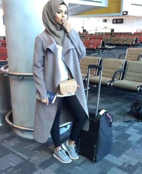 wear trench coat  hijab  trendy girls