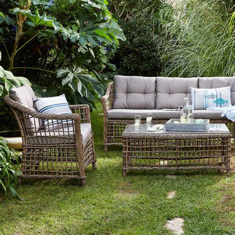 canapé extérieur pas cher canapé d 39 extérieur 3 places courbery canapé de jardin