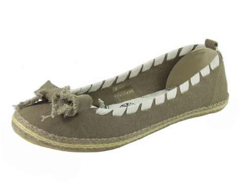 ladies khaki canvas flat shoes  sale