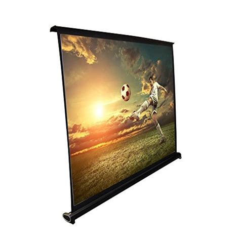 roll projector screen pyle 50 quot projector screen with floor standing portable 9537