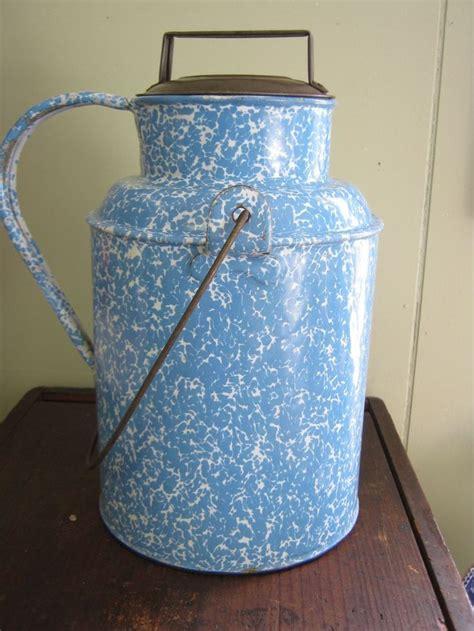enamelware graniteware milk cream cans boston rubylane