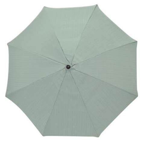 plantation patterns 11 ft patio umbrella in spa blue 9111