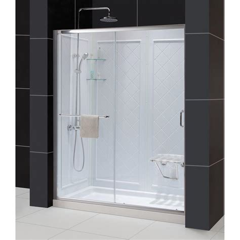 fully enclosed shower units dreamline infinity z 30 in x 60 in x 76 75 in sliding