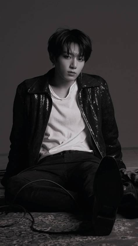 black and white aesthetic jungkook wallpapers