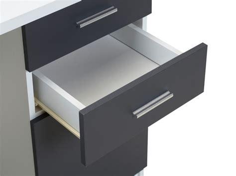 bureau d angle gris bureau d 39 angle norwy 2 portes 2 tiroirs blanc gris