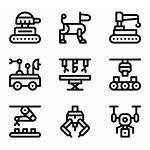 Futuristic Icon Packs Pack Robotics Icons Iconos