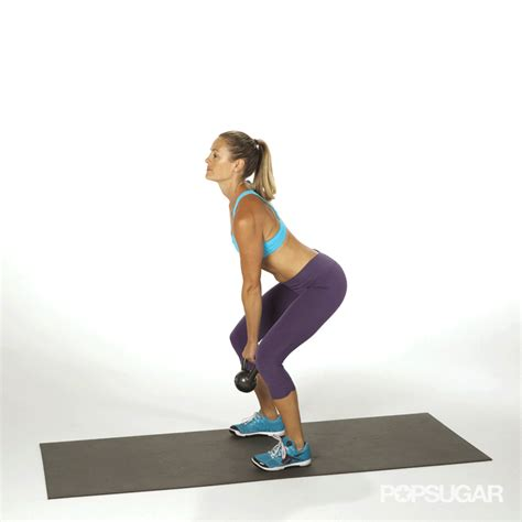 kettlebell swing exercise arm single fitness exercises gifs weight popsugar body medium hips feet distance auto