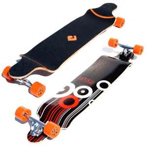atom 41 quot drop deck longboard orange california