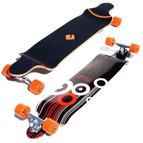 longboard drop deck atom 41 quot drop deck longboard orange california