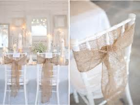 burlap wedding ideas wedding inspiration chair details