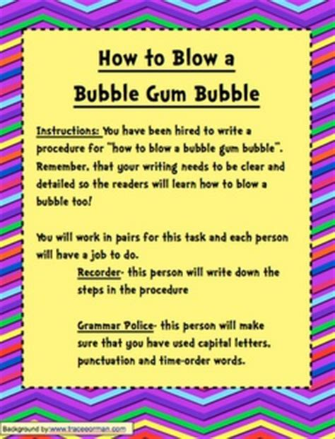 procedural writing 17 best images about procedural writing on activities the features and writing traits
