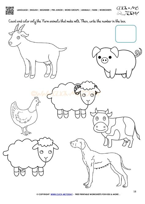 farm animals worksheet activity sheet 18