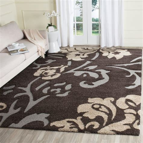 Safavieh Florida Shag by Safavieh Florida Shag Brown Smoke 5 Ft 3 In X 7 Ft