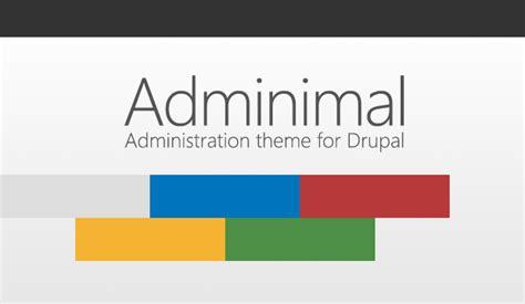 Administration Theme Adminimal Responsive Administration Theme Drupal Org