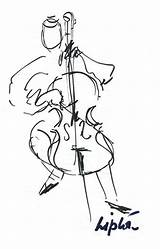 Cello Drawing Fiddle Getdrawings sketch template