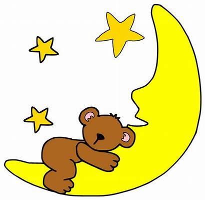 Sleeping Moon Cartoon Clipart Bedtime Animal Clip