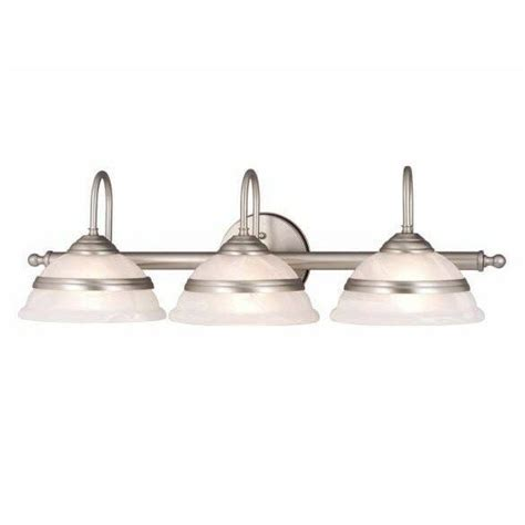 Brushed Nickel Bathroom Light Fixtures by New 3 Light Bathroom Vanity Lighting Fixture Brushed