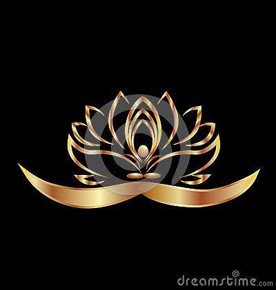 yoga  lotus logo stock vector image  lotus