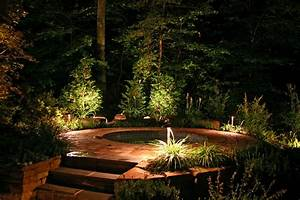 Outdoor jacuzzi at night country home design ideas