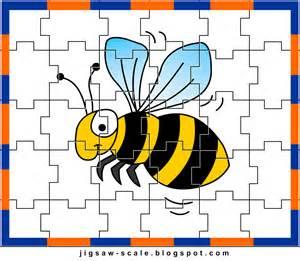 printable jigsaw puzzle for bee jigsaw