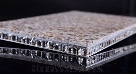 fire proof outdoor decorative marble aluminium honeycomb backed stone composite cladding panels