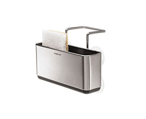 Simplehuman Sink Caddy by Simplehuman Slim Sink Caddy Brushed Stainless Steel