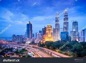 Night View Kuala Lumpur Skyline Malaysia Stock Photo ...