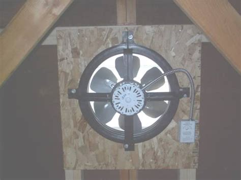 gable end attic exhaust fans attic ventilation silver spring md sealing and insulating
