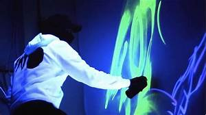 Using Fluorescent Spray Paint  Artist Creates Awesome Glow