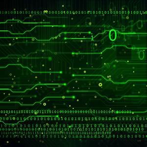 Green technology data vector background - Vector ...
