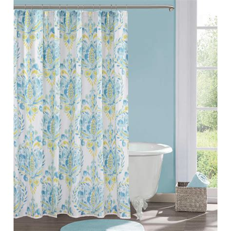 blue and shower curtain bathroom enchanting inch shower curtain for blue with