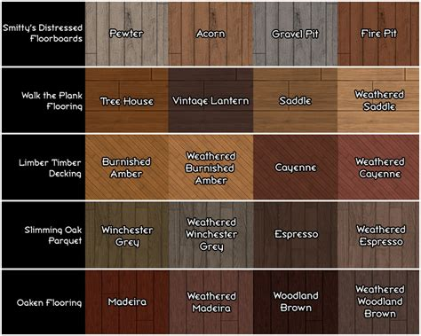 wood color names mod the sims the maxis wood floor restoration project