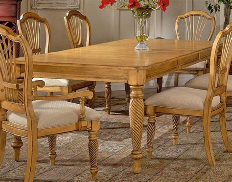 hillsdale wilshire rectangular dining table antique pine