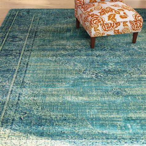 makenna turquoiseblue area rug beach house interior