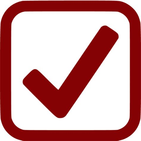 maroon checked checkbox icon free maroon check mark icons