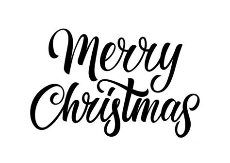 merry christmas lettering vector free download