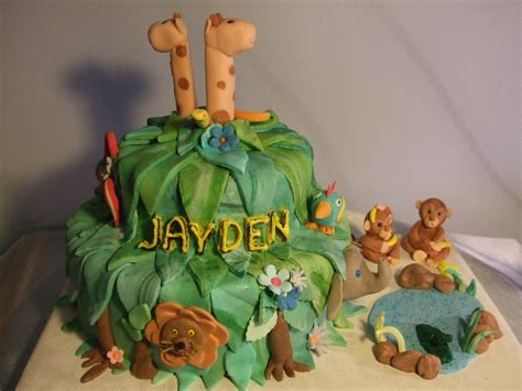 jungle cakes decoration ideas  birthday cakes