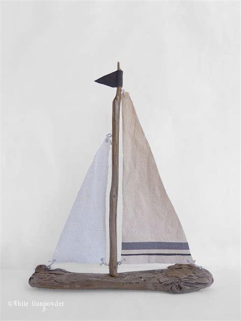 diy driftwood sailboats white gunpowder