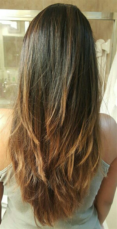 long layers  cut bayalage ombre hairstyle hair beauty