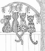 Coloring Fence Cats Mandala Adult Cat Mandalas Adults Printable Colouring Katzen Malvorlagen Zaun Favecrafts Animal Sheets Intricate Einem Einer Farbtonseite sketch template
